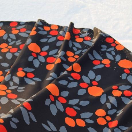 TALVIOMENA luomutrikoo, oranssi-musta-harmaa