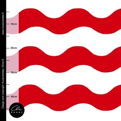ISO AALTO luomujoustocollege, punavalkoinen
