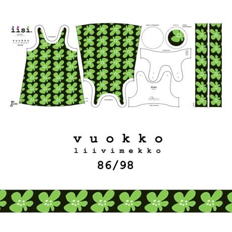 VUOKKO liivimekon ompelupaketti vihreä, koko 86/98